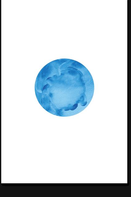 Blue Moon - Minimal Art, Nature Wall Art, Sky Art