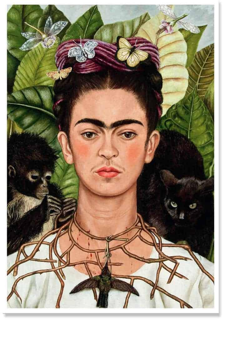 Frida Kahlo Print Wall Art for Home Decor