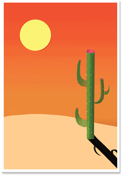 Desert Pop Art Print and Posters