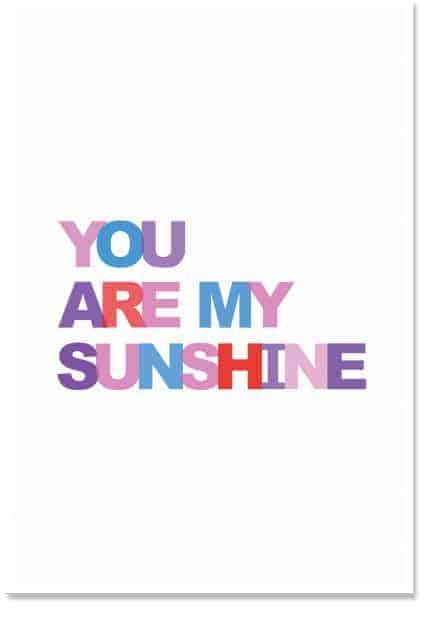 You are my sunshine kids wall decor