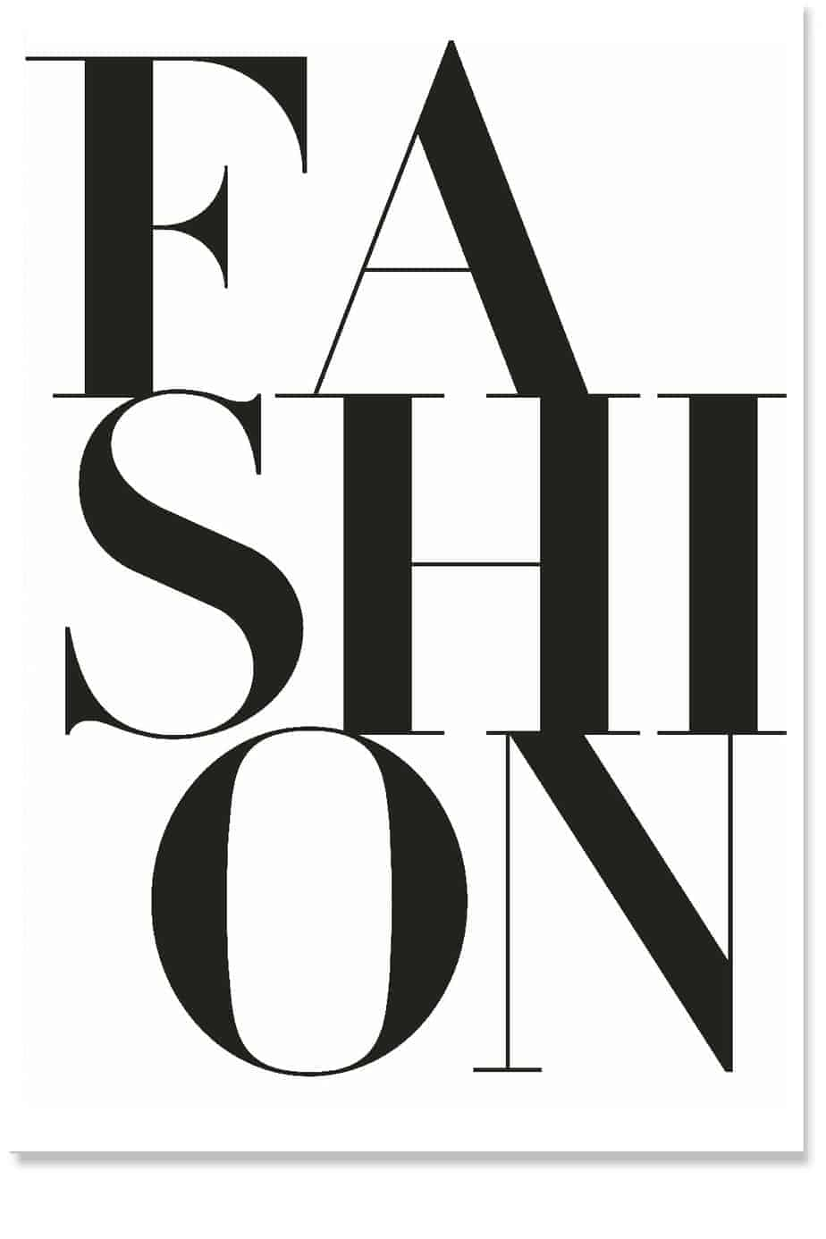fashion typography print minimal