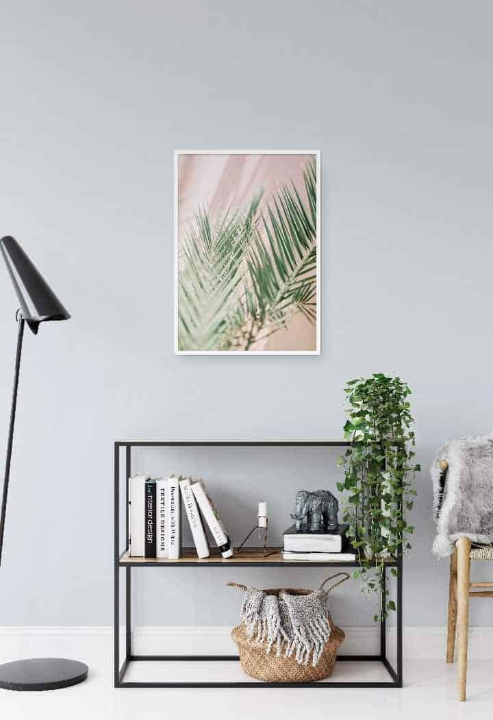 palm leaf art and print