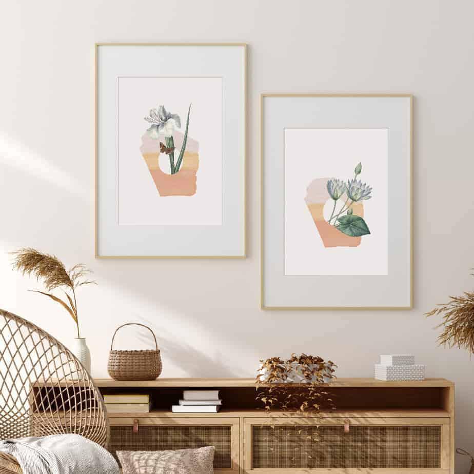 wall art arrangement floral