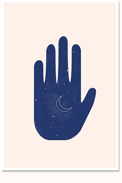Palm art illustration decor