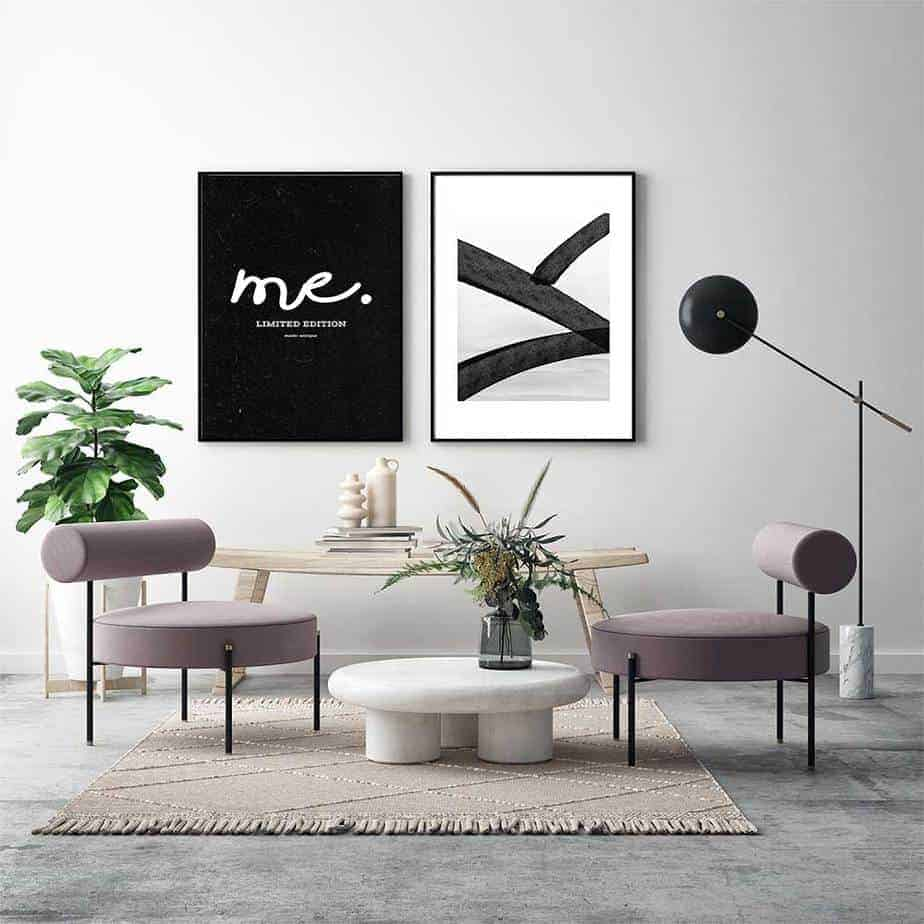 me limited edition geometric wallart