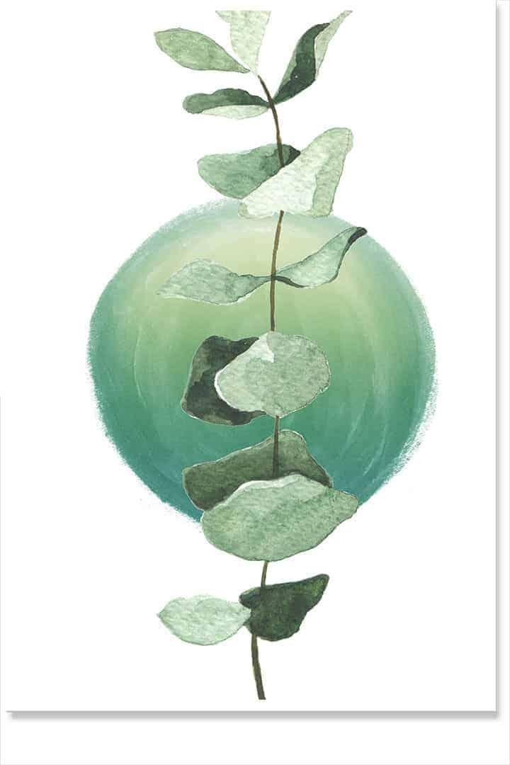 green sun botanical art