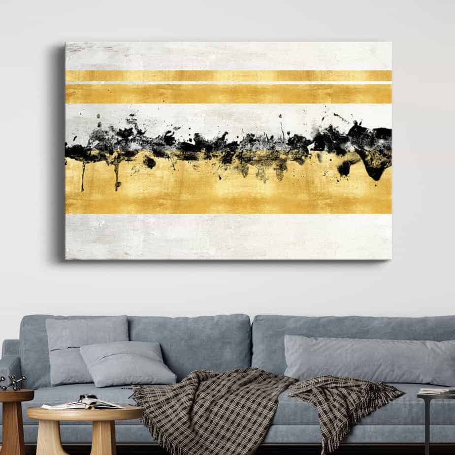 gold reflections room decor