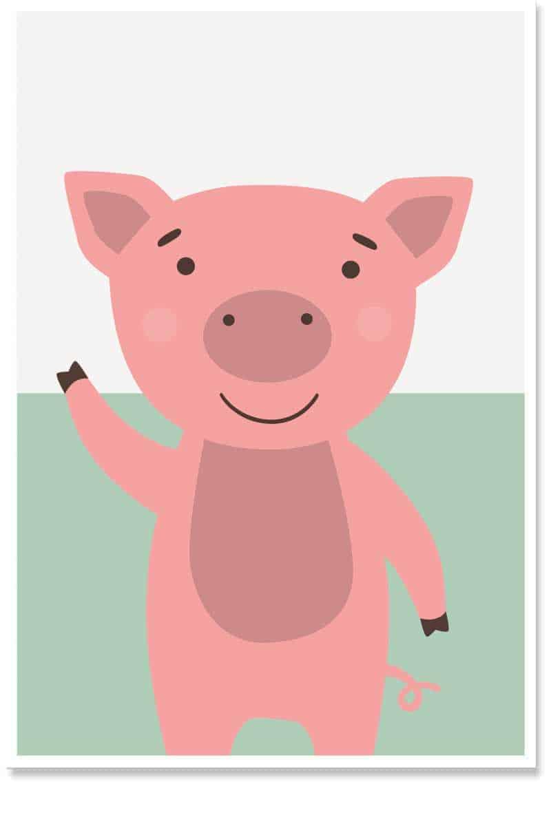 Piglet darling kids room decor