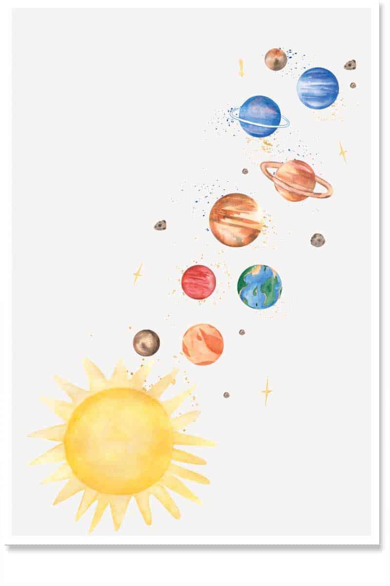 solar system kids room decor